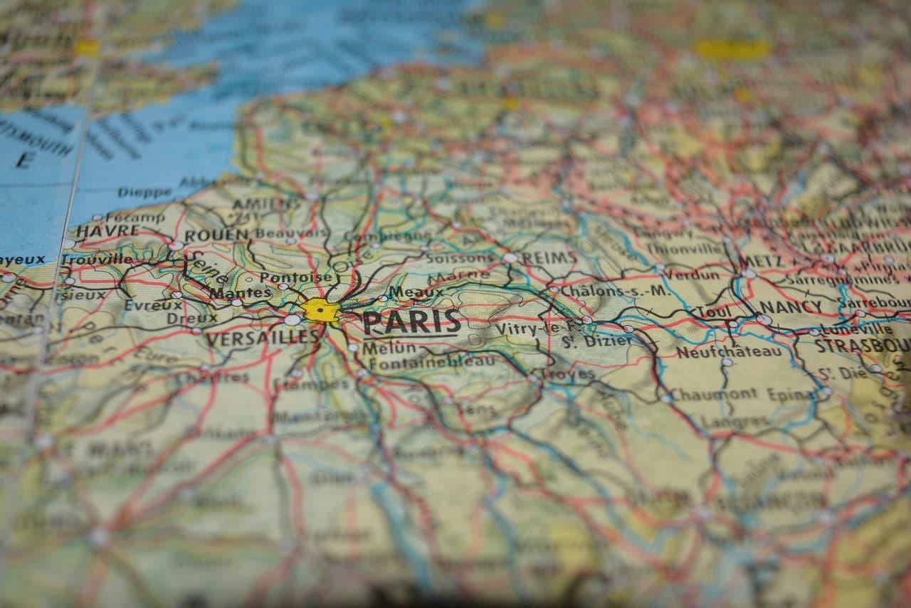 Carte routière Paris